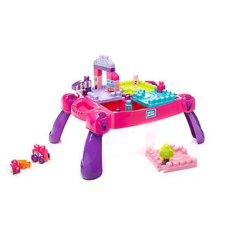 Mega bloks build n learn table pink