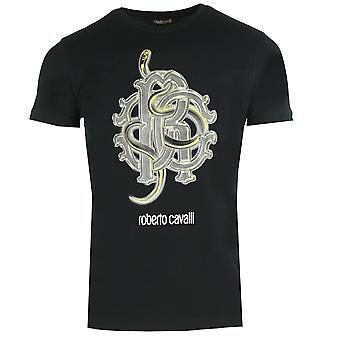 Roberto Cavalli RC Snake Logo Svart T-Shirt