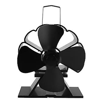5 Blades Eco-friendly Heat Powered Stove Fan For Log Wood Burner Heat
