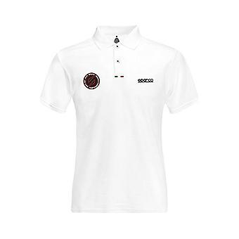 Men�s Short Sleeve Polo Shirt Sparco White Size M