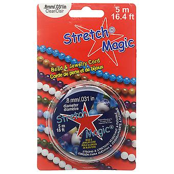 Stretch Magic Cord, Round .8mm (.031 Inch) Thick, 5 Meter Spool, Clear