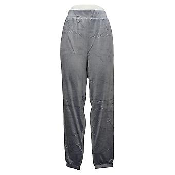 Carole Hochman Women's Pants Reg Silky Stretch Velour Jogger Blue A381873