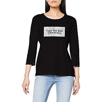 Paragraph CI 88.912.39.5664 T-Shirt, Black (99d2 Grey/Black PL. Print 99d2), 42 Woman