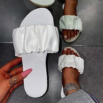 Women Sandals Summer Shoes Women Flat Sandals Plus Size Pleated