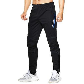 Men's Waterproof Warm Cycling Pants Thermal Fleece Windproof Winter Bike Riding Running Sports Trousers