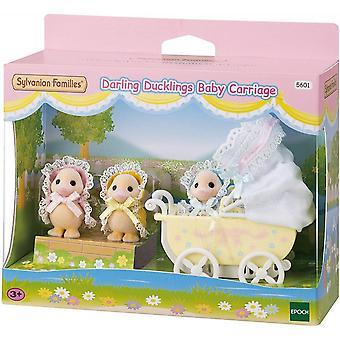 Sylvanian Familier 5601 Darling Ducklings Baby Vogn