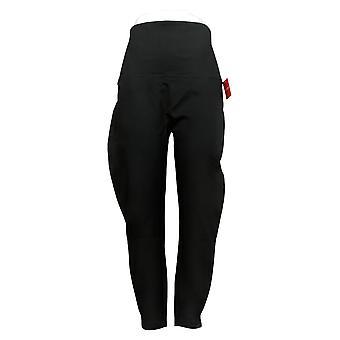 Spanx Women's Leggings Reg Ankle Length Ponte Hem Slit Black A369380