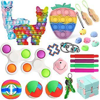 Aisti fidget lelut asettaa kupla pop stressiä helpotus lapsille aikuiset Z163