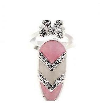 Femmes bowknot beau charme ongles bague bijoux pour la fête pl-1000