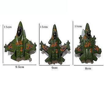 New 3pcs Army Planes Figures Fighter With Rotary Wheels War Play Set ES12799