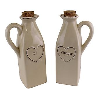 Uppsättning av 2 hjärtsortiment olja & vinäger set