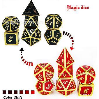 4 النرد المعدنية تعيين دور لعب التنين السحر النرد شريط لعبة الجدول 7pcs/set fa1392