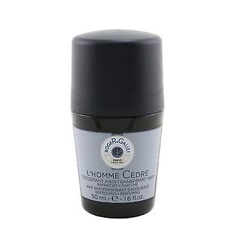 Roger &Gallet L'Homme Cedre 48H Anti Perspirante Desodorante Rollo En 50ml/1.6oz