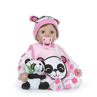 55Cm puha töltött test 1/4 szilikon végtagok újjászületett baba baba szeme pislog édes lány baba születésnapi ajándék