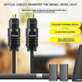 1.8 M ψηφιακό οπτικό καλώδιο οπτικών ινών Toslink το ακουστικό καλώδιο συνδέει το καλώδιο καλωδίων