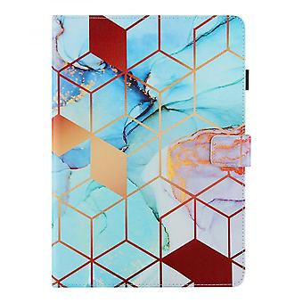 """Case For Ipad 9 10.2"""" Generation 2021 Cover Auto Sleep/wake Rotating Multi-angle Viewing Folio Stand - Splicing"""