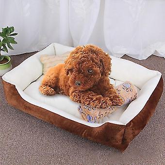 Dog Bone Pattern Big Soft Warm Kennel Pet Dog Cat Mat Blanket, with Blanket Size: L, 80×60×15cm
