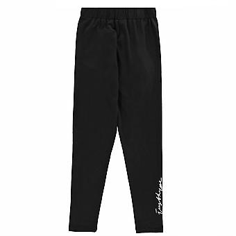 Hype Womens Black Signature Legginsy Elastyczny pas Sport Rajstopy Spodnie
