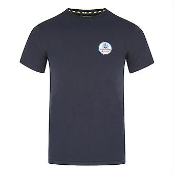 Aquascutum Patch Logo Navy T-Shirt