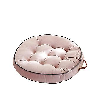 Round Floor Cushions with Handles Non Slip Seat Cushions(58cm)(Pink)