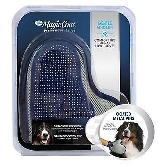 """Magic Coat Professional Series Gentle Groom Comfort Tips Deluxe Love Glove - 1 count - (8"""" Long x 7.75"""" Wide)"""
