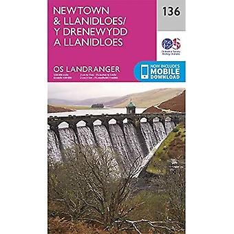 Newtown & Llanidloes (OS Landranger Active Map)