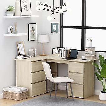 Kulmapöytä Sonoma-tammi 145x100x76 cm lastulevy