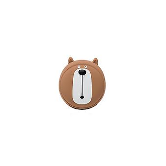 Power adapter charger accessories warm hand charging dual-purpose cartoon mini-usb mobile power supply - 3 brown