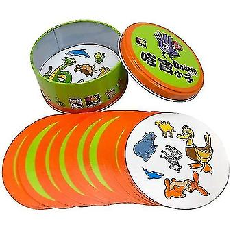 Card games 8+ dobble spot it cards game with animals  alphabets and numbers c