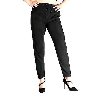 Rugalmas derék egyszínű nyári slim lady alkalmi nadrág női chiffon nadrág