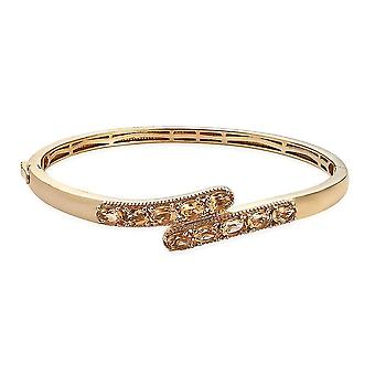 TJC Bypass Bangle voor Womens Citrine Promise Gift in 4.41ct