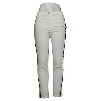 SkinnyGirl Women's Jeans Side Stripe Skinny White 690131