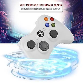 בקר משחק הלם אלחוטי עבור מיקרוסופט Xbox 360 Xbox360 לבן חדש חם