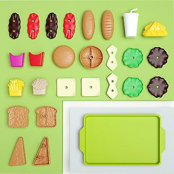 Mini Burgers Play House Kitchen Toys Simulation Kitchenware Cooking Snacks For Children