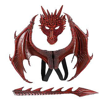 Halloween Carnival Children's Dress Up Toy Dragon Wing Tail Mask Set Children's Day Performance Props