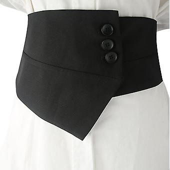 Women's Suit Wide Belt With Button Slim Clothing Accessories