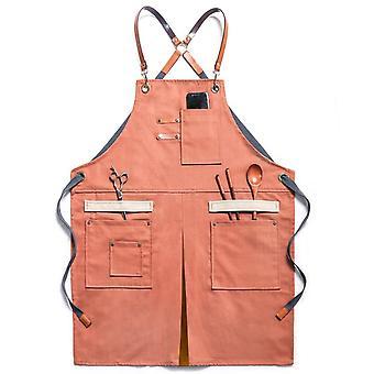 Denim Schürze mit Taschen Unisex Jean Schürze Verstellbare Schürze für Küche