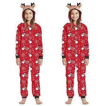 Family Matching Pajamas  Christmas Parent-child Zipper Jumpsuit