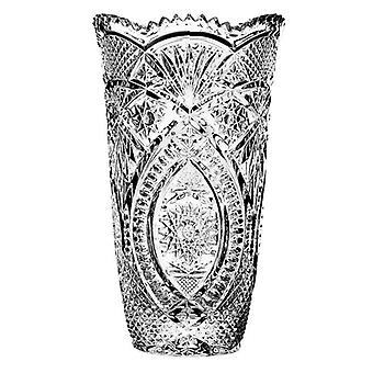 Premio Diamax Cut Crystal Glassware Flower Decoration 24cm Vase