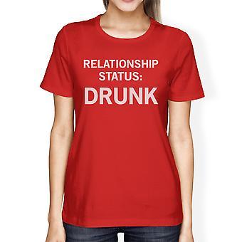 Relatie Status rode Short Sleeve Tee geestig idee van de Gift voor haar