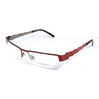 Boucheron Unisex Skinny Rectangular Eyeglasses Red