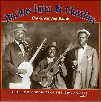 Ruckus Juice & Chitlins - Ruckus Juice & Chitlins: Vol. 1-Great Jug Bands-Classic [CD] USA import