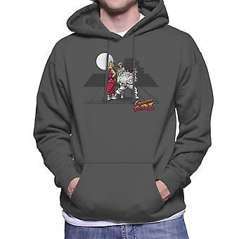 Cryogenic Fighter II Futurama Street Fighter Men's Hooded Sweatshirt