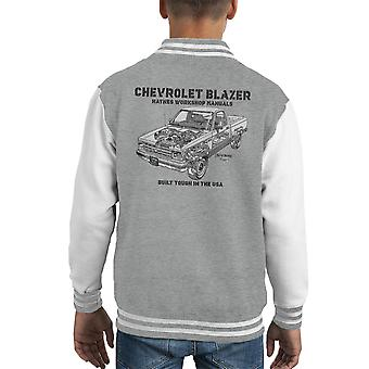 Haynes Owners Workshop Manual Chevrolet Blazer Black Kid's Varsity Jacket