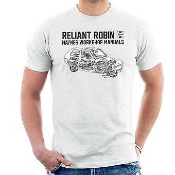 Haynes Workshop manuell avhengige Robin svart menn t-skjorte
