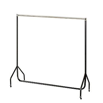 6ft Black/Chrome Robust Clothes Rail 183x155x50cm von Caraselle
