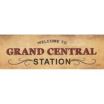 Estação Grand Central Poster Print by Lauren Rader (18 x 6)