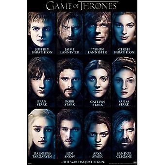 Game of Thrones Besetzung der Charaktere Poster drucken (24 x 36)