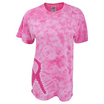 Colortone Adults Unisex Short Sleeve Tie-Dye Awareness T-Shirt