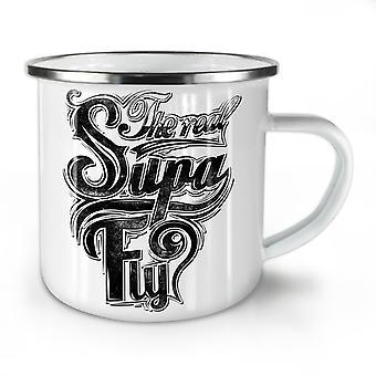 Real Supa Fly Cool NEW WhiteTea Coffee Enamel Mug10 oz | Wellcoda